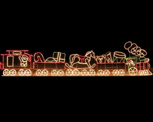 Christmas Outdoor Train Decoration