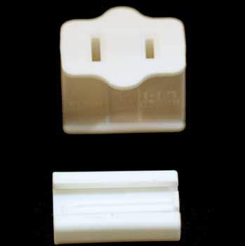 ivory christmas light plug polarized female zip plug spt1