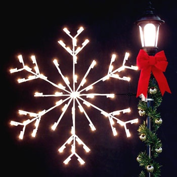 Outdoor Christmas Decorations 4 Arctic Snowflake Silhouette