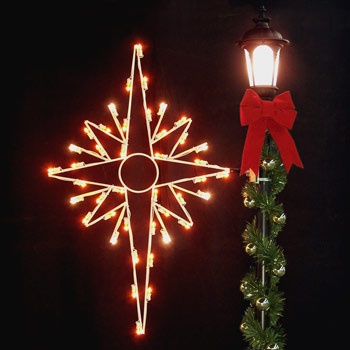 Outdoor christmas decorations 5 bethlehem star silhouette 5 bethlehem star silhouette mozeypictures Images