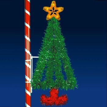 Outdoor Christmas Decorations 6 X 3 Vertical Tree