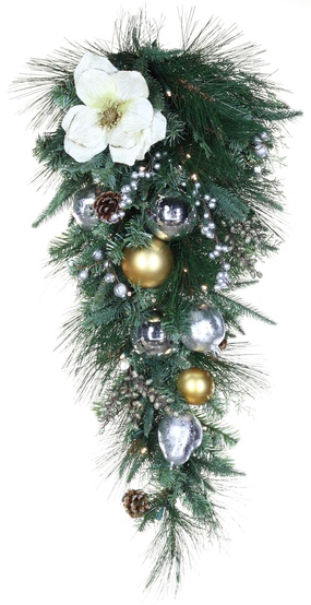 Decorative Garland Aspen Silver Battery Operated Led