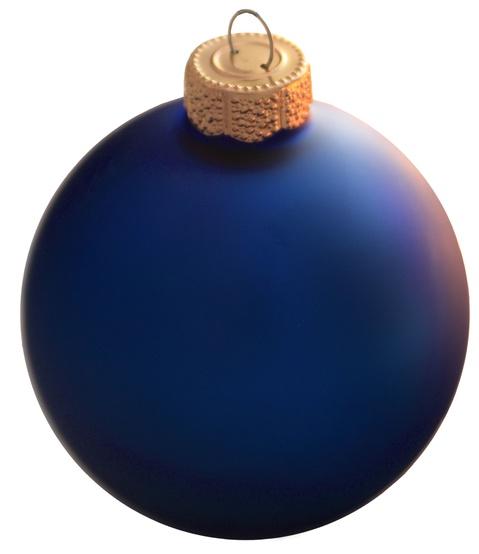 Cobalt Blue Glass Ball Christmas Ornament