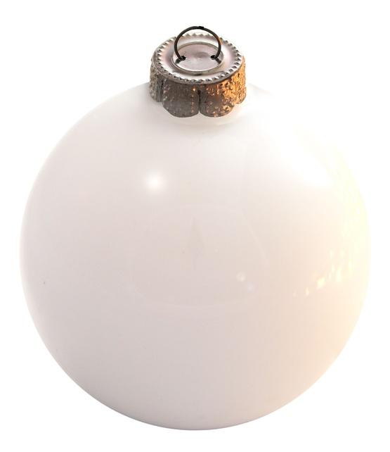 Glass Ball Ornaments Decorate: White Glass Ball Christmas Ornament