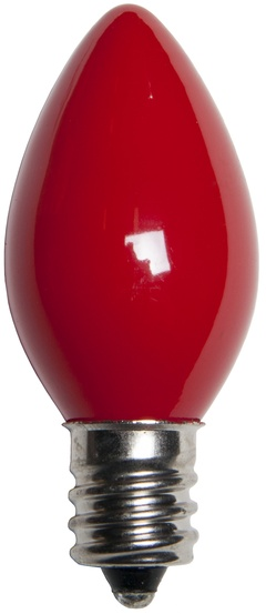 C7 Christmas Light Bulb Red Bulbs Opaque
