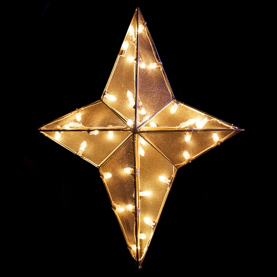 3 dimensional nativity star treetopper 32 clear c7 lights - Christmas Star Tree Topper