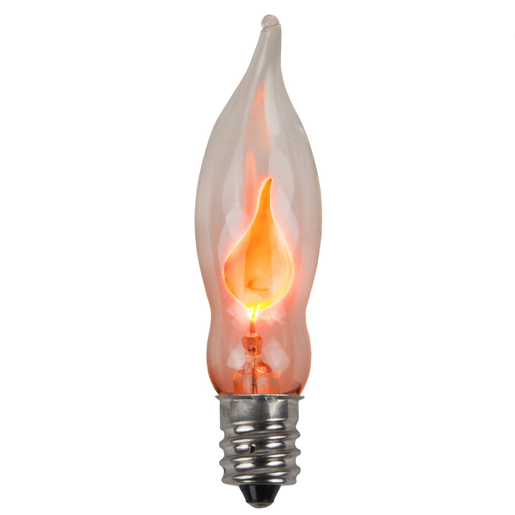 C7 Christmas Light Bulb C7 Flicker Flame Clear Christmas Light Bulbs Pack Of 2