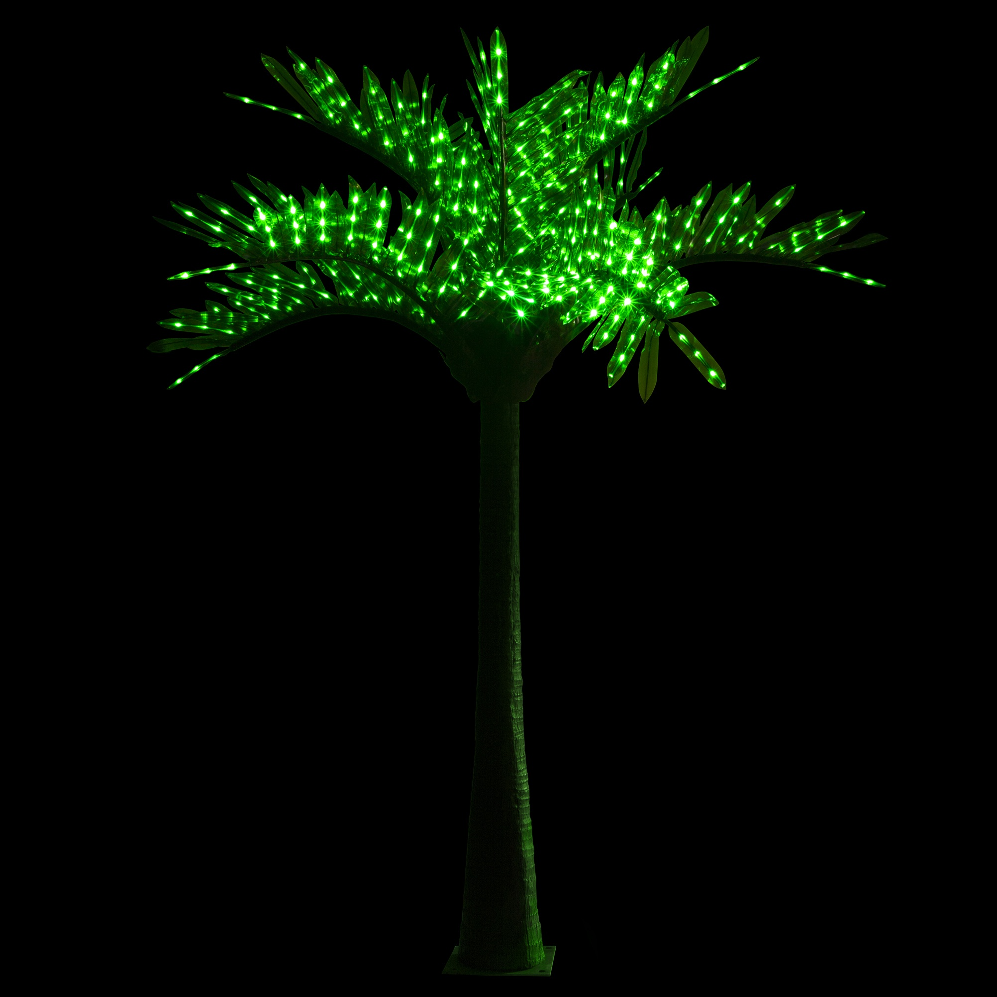 10u0027 LED Palm Tree - Natural Green & Lighted Palm Trees - 10u0027 LED Palm Tree - Natural Green