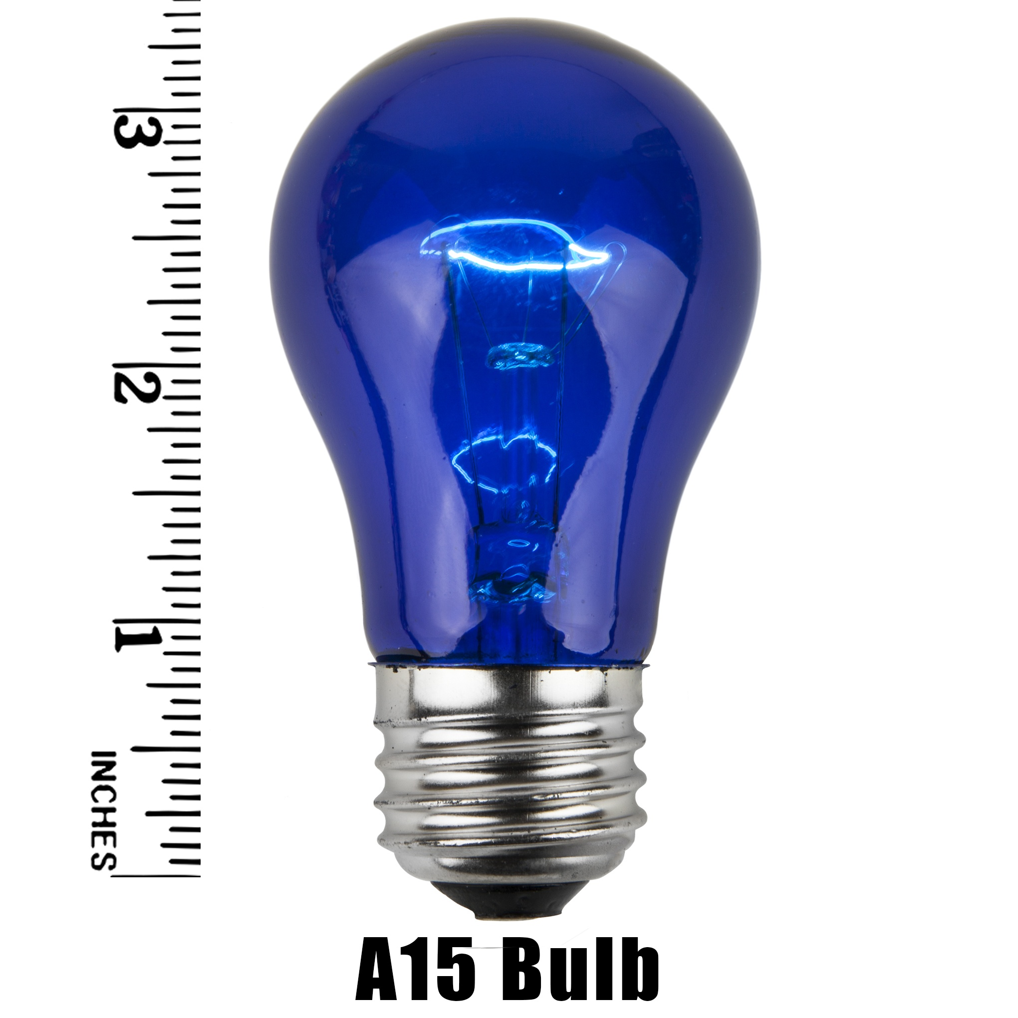 a15 transparent blue 15 watt replacement bulbs - A15 Bulb