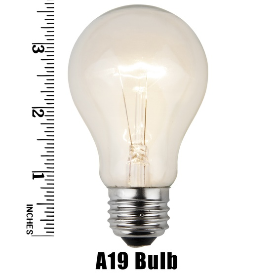 E26 Party And Sign Bulbs A19 Transparent Clear 25 Watt