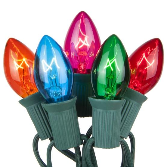 C7 Christmas Lights 25 C7 Transparent Multicolor