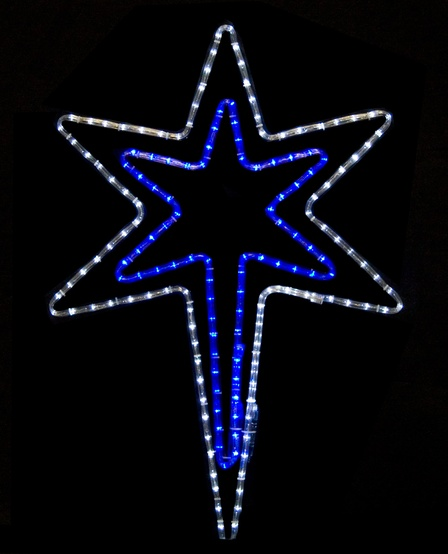 Snowflakes Amp Stars 32 Quot Bethlehem Star With A Blue Center