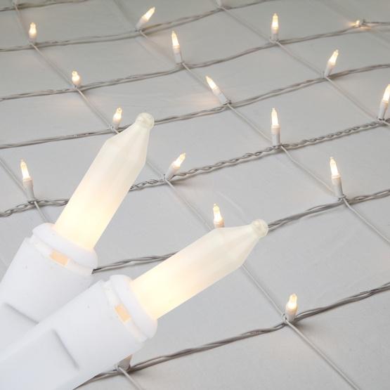 Christmas Net Lights - 4\' x 8\' Net Lights - 200 White Frost Lamps ...