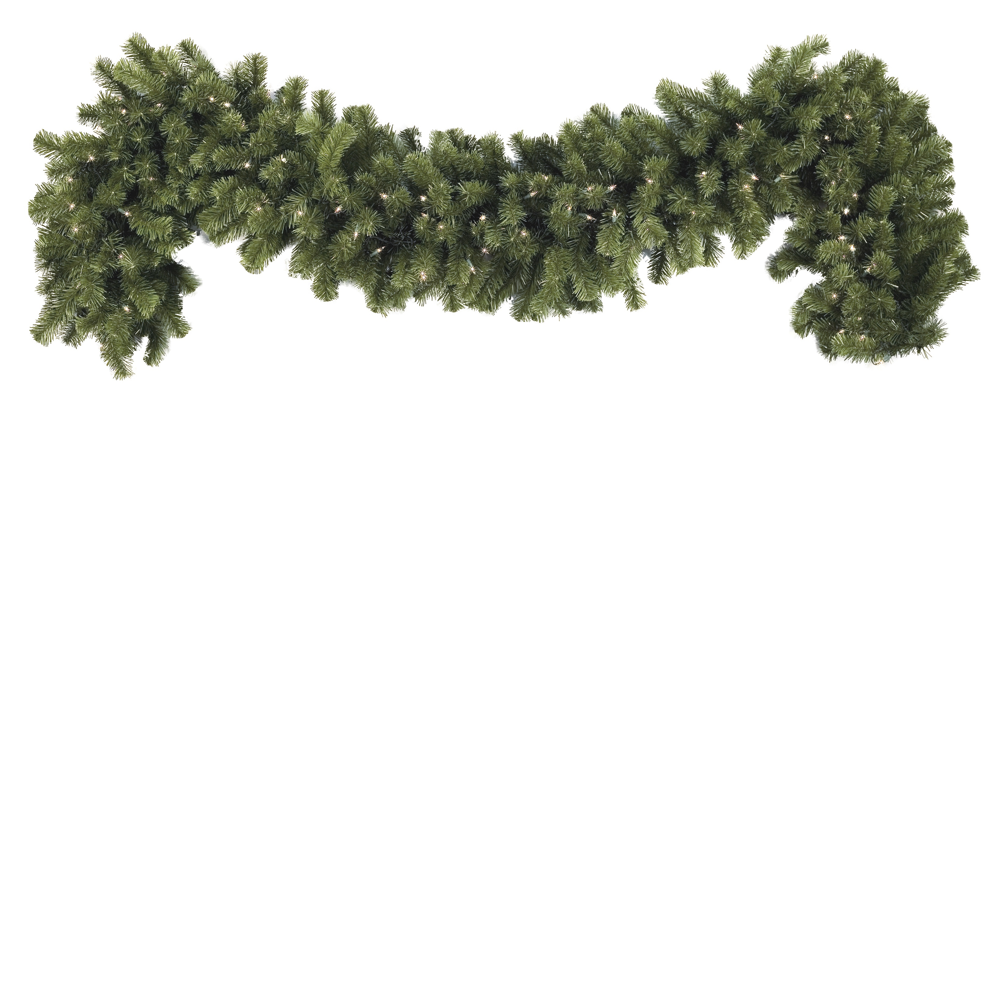 Lighted Christmas Garland - Sequoia Fir Prelit Commercial ...