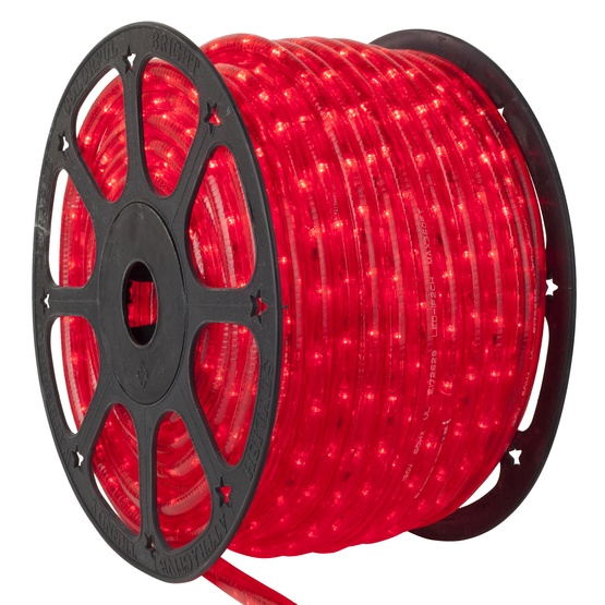 Led Rope Lights 153 Red Led Rope Light Commercial Spool 120 Volt