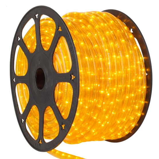 Rope light 150 yellow chasing rope light commercial spool 120 volt 150 yellow chasing rope light 3 wire 12 aloadofball Choice Image