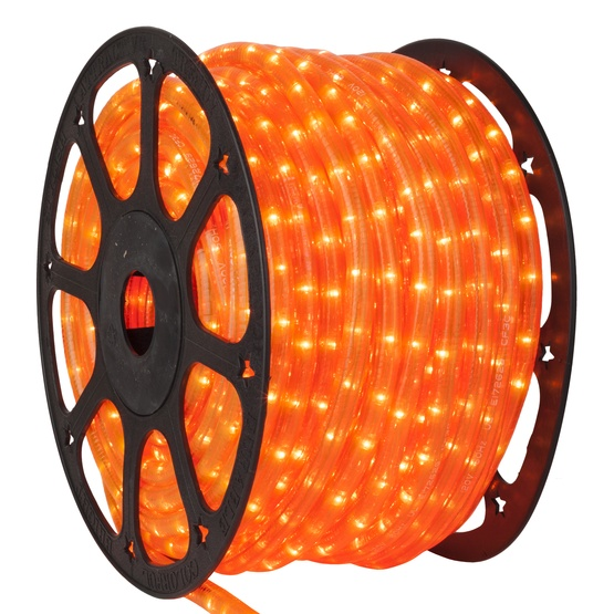 Rope light 150 fluorescent orange chasing rope light commercial 150 fluorescent orange chasing rope light 3 wire 12 mozeypictures Choice Image