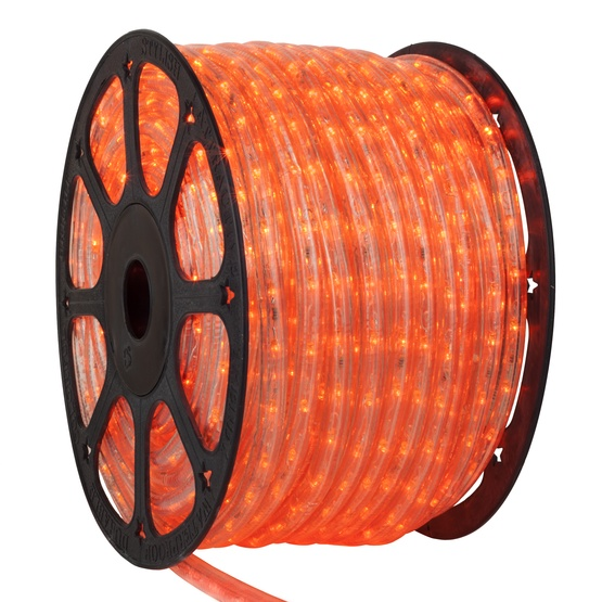 Led rope lights 150 orange led rope light commercial spool 120 150 orange led rope light 2 wire 12 120 volt aloadofball Choice Image