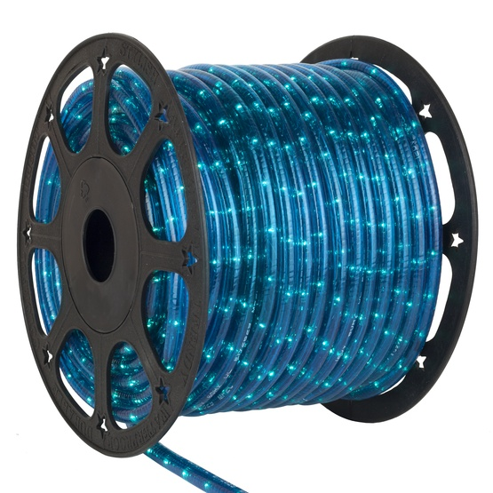 12 Volt Rope Lights - 150\' Blue Chasing Rope Light Commercial Spool