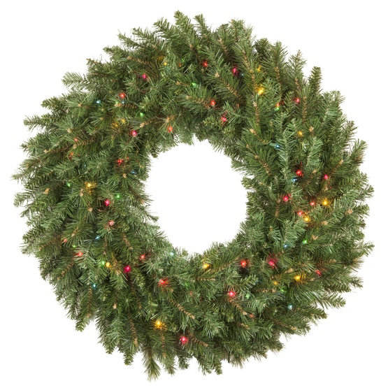 Artificial Christmas Wreaths.Brighton Fir Prelit Artificial Christmas Wreath Multicolor Lights