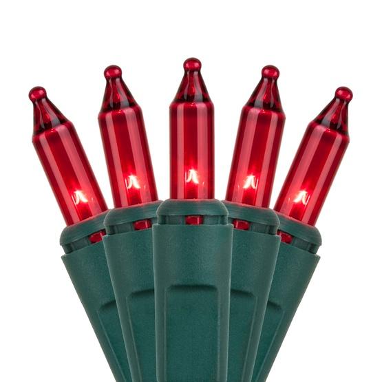 Christmas Lights - 50 Red Christmas Tree Mini Lights, 6\