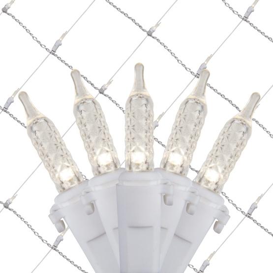LED Net Lights - 4\' x 6\' LED Net Lights - 100 Cool White Lamps ...