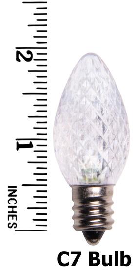c7 cool white led christmas light bulbs - Christmas Light Bulb Sizes