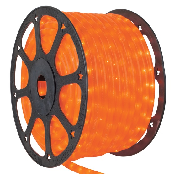 Rope light 150 pearl orange rope light commercial spool 120 volt 150 pearl orange rope light 2 wire 12 aloadofball Choice Image