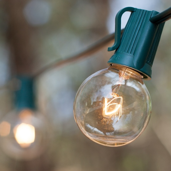 Clear Globe String Lights, Clear Patio String Lights