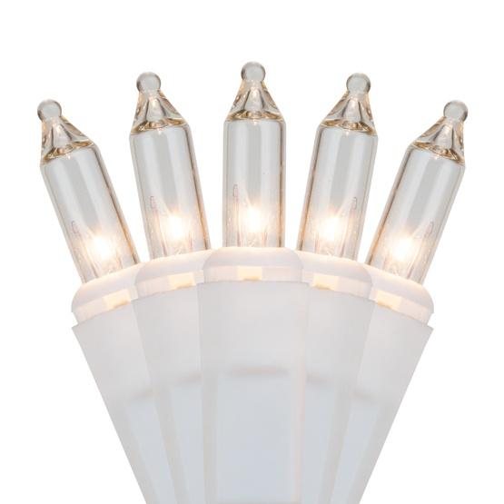 White Christmas Lights - 50 Clear Christmas Tree Mini Lights, 2.5 ...