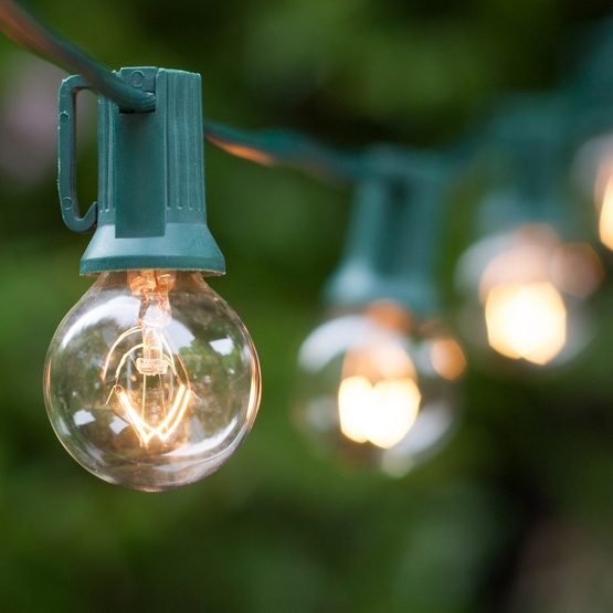 String Globe Lights Beauteous Patio Lights Commercial Clear Globe String Lights 60 G60 E60