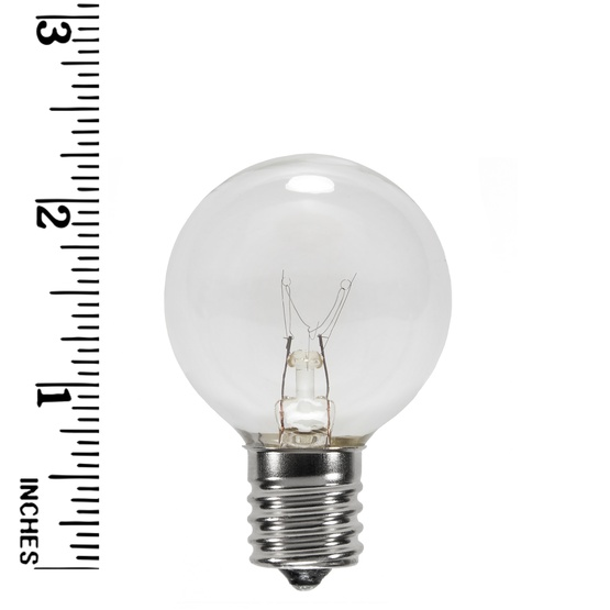 g40 transparent clear 7 watt replacement bulbs - Replacement Bulbs For Christmas Tree Lights
