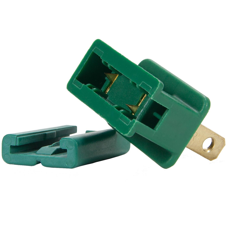 C7 C9 Light Strings Green Christmas Plug Polarized Male
