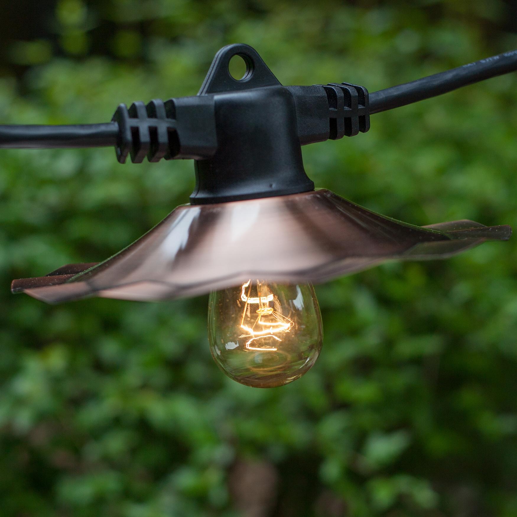 commercial patio lights. 35\u0027 E26 Commercial Patio Light Stringer, SJTW Black Wire, 60\ Lights R