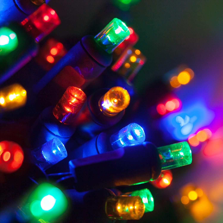 Wide Angle 5MM LED Lights - 70 5mm Multi Color LED Christmas ...