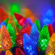 "70 C6 Multi Color LED String Lights, 4"" Spacing"