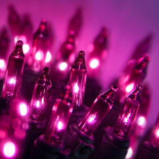 White Christmas Lights - 50 Purple Mini Christmas Lights, 6\