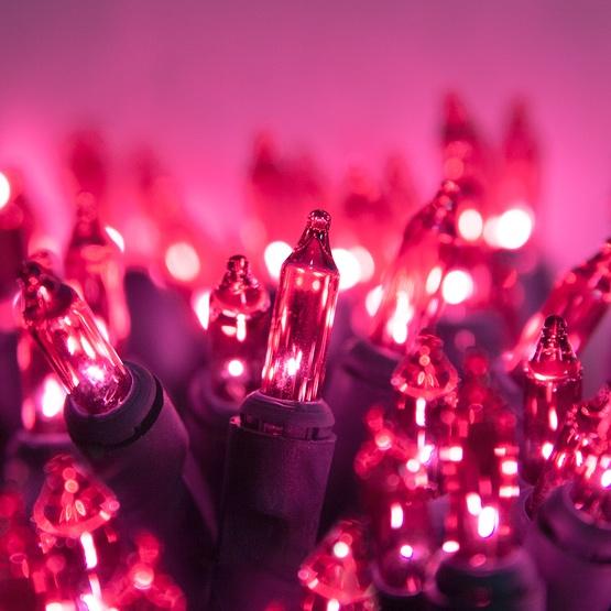 50 Pink Mini Christmas Lights, 6