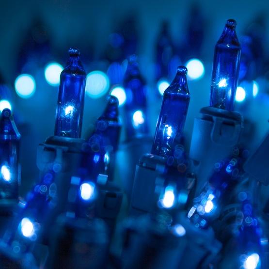 Blue Christmas Lights