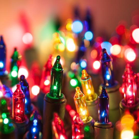 Christmas lights multi color tree mini