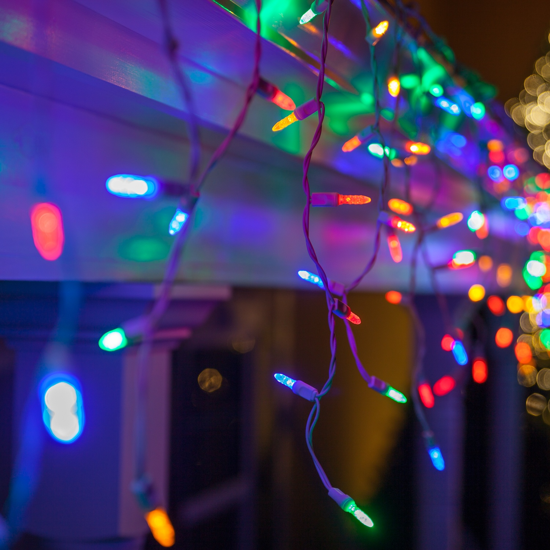 LED Christmas Lights - 70 M5 Multicolor LED Icicle Lights