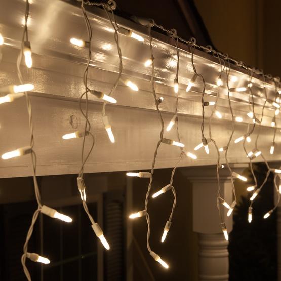 Led Christmas Lights 70 M5 Warm White Twinkle Led Icicle