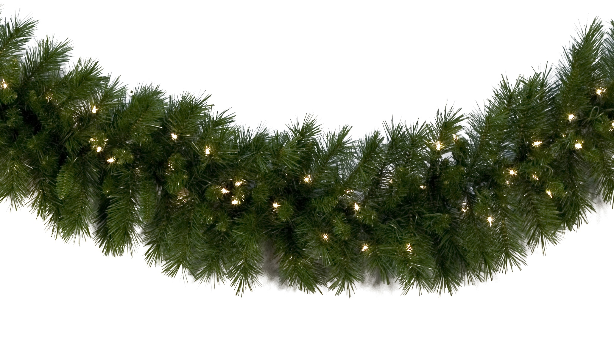 Dunhill Fir Christmas Tree.Dunhill Fir Prelit Led Christmas Garland Warm White Lights
