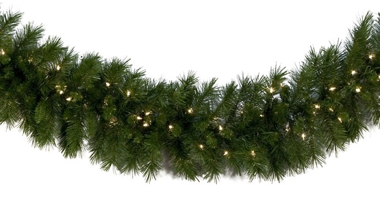 Lighted Christmas Garland Dunhill Fir Prelit Led Warm White Lights