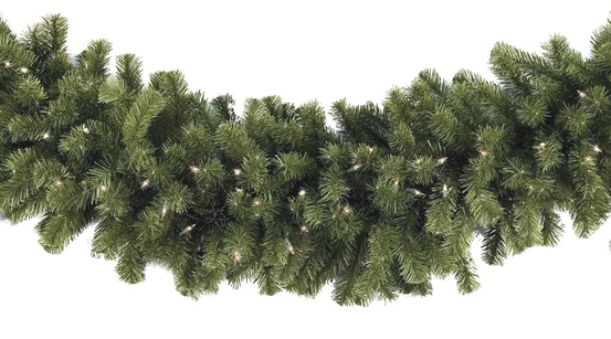 Sequoia Fir Prelit Commercial Christmas Garland, Clear Lights - Lighted Christmas Garland - Sequoia Fir Prelit Commercial Christmas