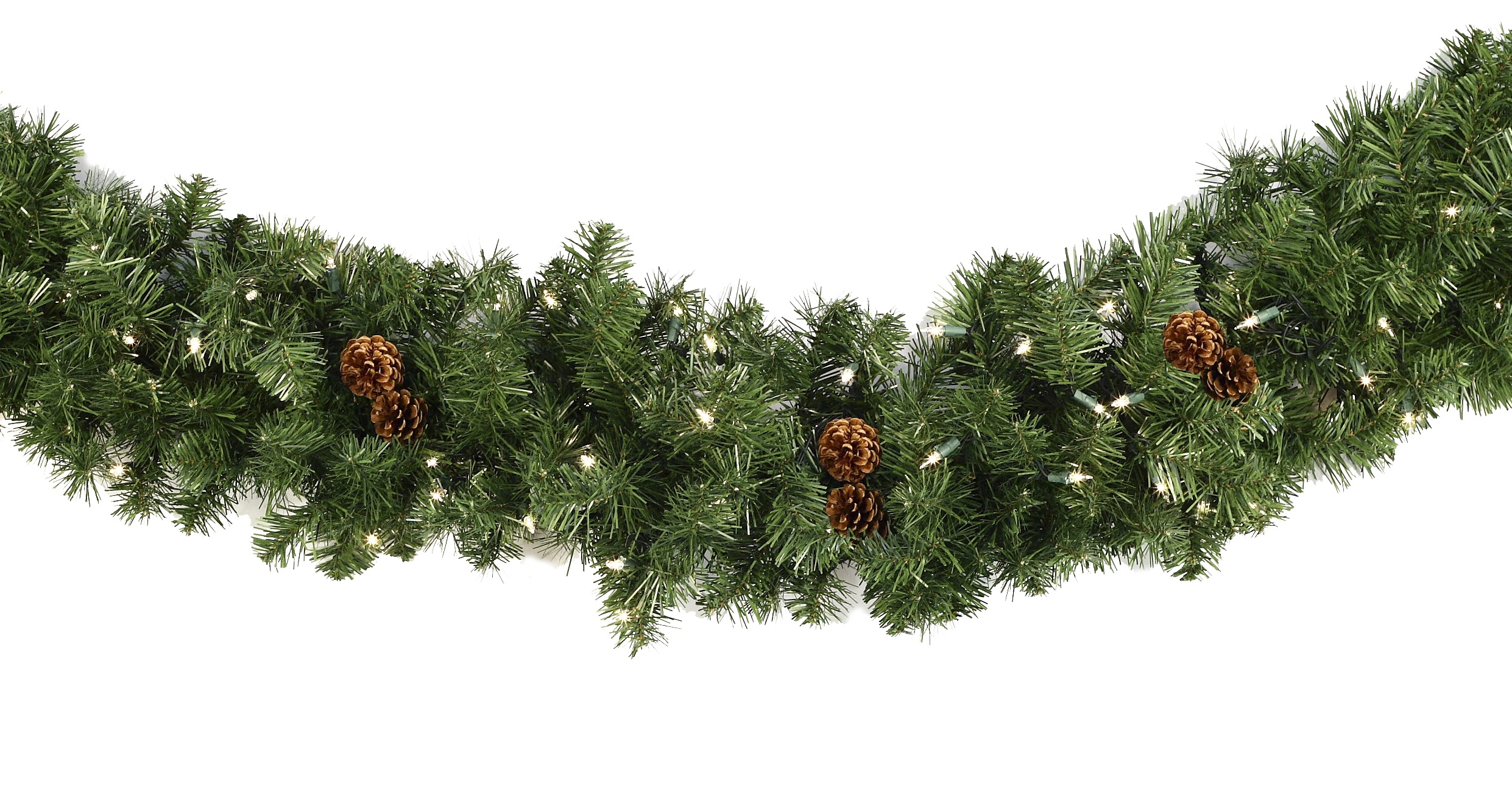 Lighted Christmas Garland - Winchester Fir Prelit Christmas ...