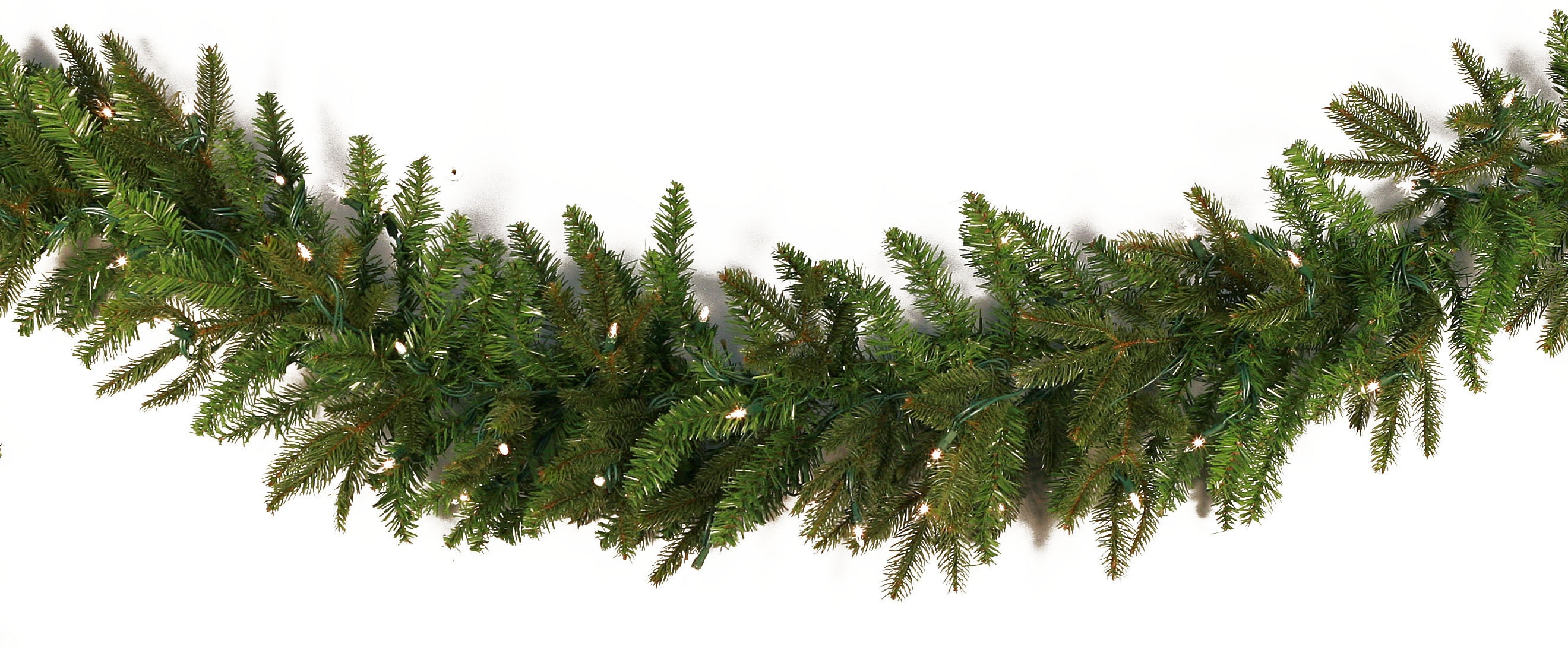 Fraser Fir Prelit Led Christmas Garland Warm White Lights