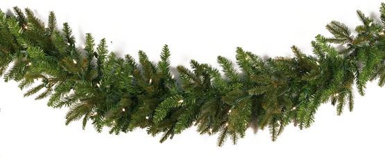 fraser fir trutip pe pvc unlit christmas garland - Green Christmas Garland
