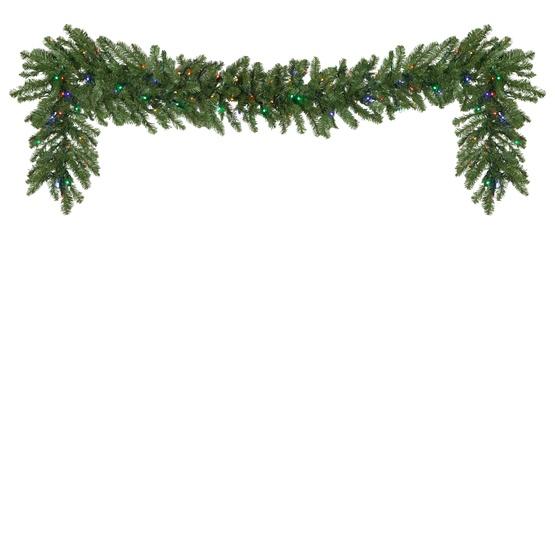Lighted Christmas Garland - Douglas Fir Prelit LED ...