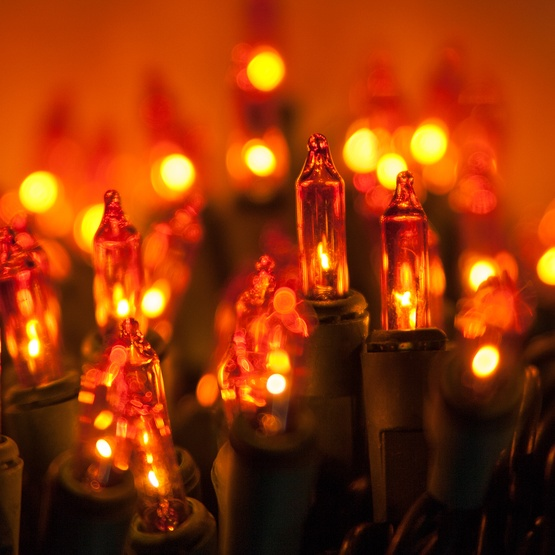 Christmas Mini Lights Commercial 100 Amber Orange 6 Ing Green Wire
